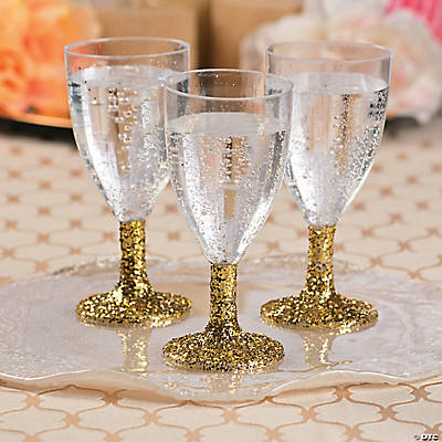 glitter wine glasses idea party decoration ideas party. Black Bedroom Furniture Sets. Home Design Ideas