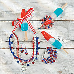 Patriotic Crystal Bracelet Idea