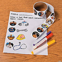 Community Helper Sticker Education Idea
