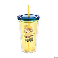 Plastic Despicable Me Minions™ Double Wall Cups with Straw