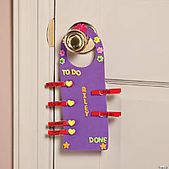 Chore List Doorknob Hanger Idea