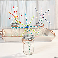 Paper Straw Flower Idea