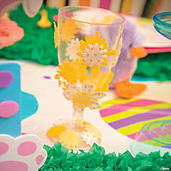 DIY Flower Glassware Idea