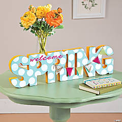 Spring Wood Word Decor Idea