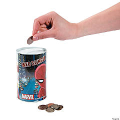 Plastic Spiderman Cylinder Banks