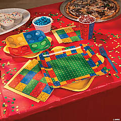 Color Brick Party Dessert Plates