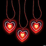 Heart Light-Up Bead Necklaces