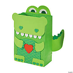 Paper Alligator Valentine Card Holder Craft Kit