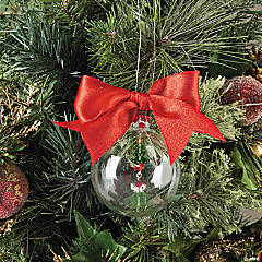 Clear Beaded Christmas Ornament Idea