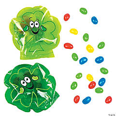 Shamrock Bags with Jelly Beans