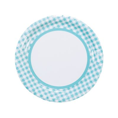 quickview · image of Light Blue Gingham Paper Dinner Plates with sku13721410  sc 1 st  Oriental Trading & Light Pink Gingham Plastic Tablecloth Roll