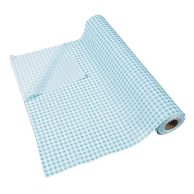 Quickview · Image Of Light Blue Gingham Plastic Tablecloth Roll With  Sku:13721417