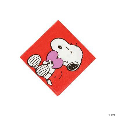 Peanuts? Valentine Beverage Napkins