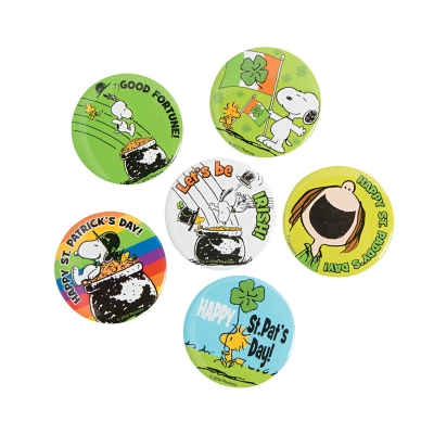 Peanuts� St. Patrick?s Day Buttons