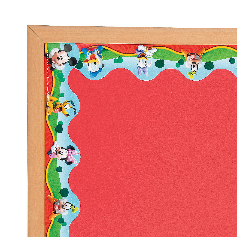 Classroom Border Ideas ~ Mickey mouse characters bulletin board borders