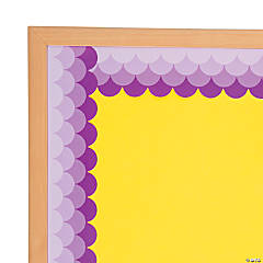 Fish Scale Purple Scalloped Bulletin Board Borders