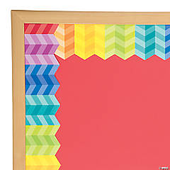 Painted Palette™ Rainbow Herringbone Bulletin Board Border