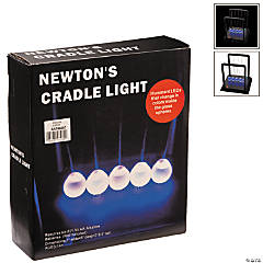 Plastic Color Changing Glitter Newton's Cradle Light