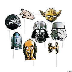 Paper Star Wars Photo Stick Props