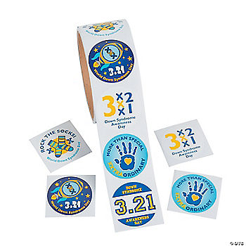 Down Syndrome Awareness Stickers Oriental Trading