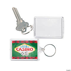 Casino Theme Picture Frame Keychains