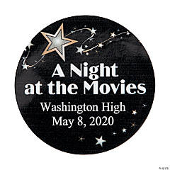 Personalized Movie Night Favor Stickers
