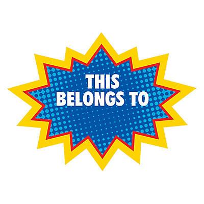 Superhero personalized stickers