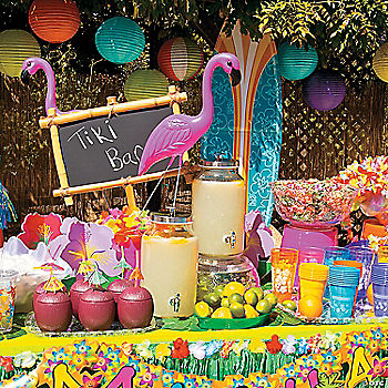 backyard luau party supplies