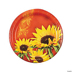 Sunflower Style Dinner Plates