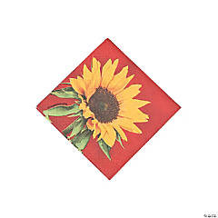 Sunflower Style Beverage Napkins