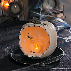 Haunted Mansion Spider Web Pumpkin Decoration Idea