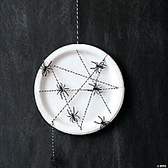 Haunted Mansion Paper Plate Spider Web Craft Idea