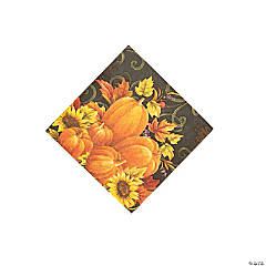 Pumpkin Tapestry Beverage Napkins