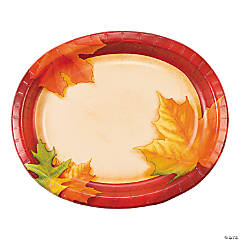 Fall Breeze Oval Dinner Plates