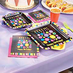 Birthday Cake Dots Party Supplies