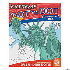 MindWare® Extreme Dot to Dot - Around the USA Coloring Book