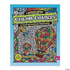 MindWare® Color Counts - Landscapes Coloring Book