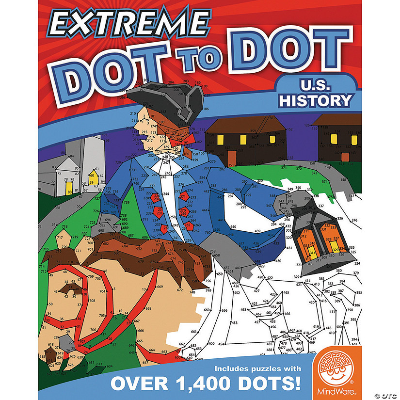 MindWare® Extreme Dot to Dot - US History Coloring Books - Discontinued