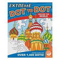 quickview image of mindware extreme dot to dot around the world coloring book with sku - Mindware Coloring Books