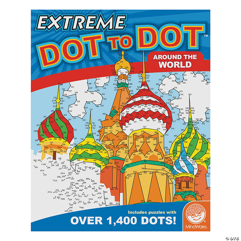 Mindware extreme dot to dot around the world coloring book