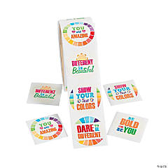 Paint Chip Motivational Jumbo Roll Stickers