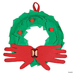 Paper Plate Christmas Wreath Idea