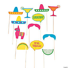 Fiesta Party Photo Stick Props