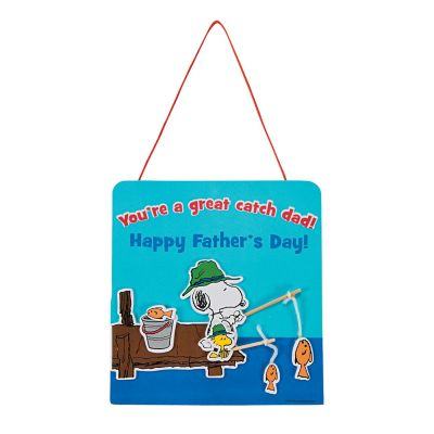 Peanuts Fathers day fishing sign crafts