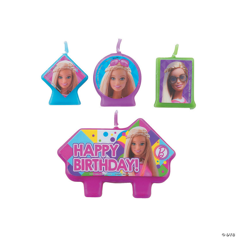 Barbie Sparkle Birthday Candle Set