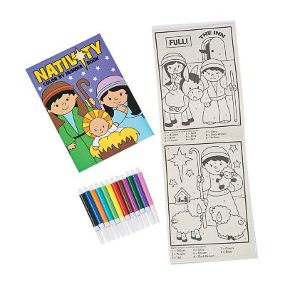 DIY Nativity activity books and markers