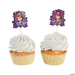 Paper Sofia the First Cupcake Picks