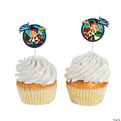 Paper Jake and the Never Land Pirates Cupcake Picks