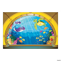 VBS Submarine View Backdrop Banner
