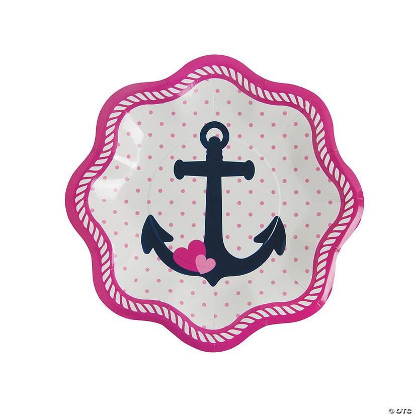 Nautical Girl Paper Dessert Plates  sc 1 st  Oriental Trading & Girl Paper Dessert Plates